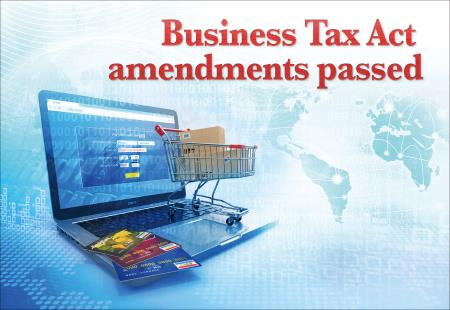 Business Tax Act amended
