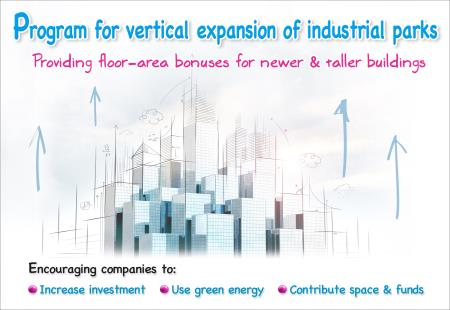 Vertical expansion of industrial parks